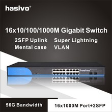 16 Port  RJ45 Gigabit Enthernet switch  lan switch ethernet switch with 2x1000M SFP Uplink