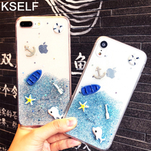 KSELF Ocean Beach TPU Transparent Silicone Shockproof Case for iPhone X XS Max XR 6 6s 8 7 Plus Protective Cover