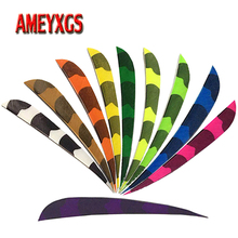 50pcs Archery 5 Turkey Feathers Right Wing Vae Drop-shape Fletching Natural Arrow For Shooting Hunting Accessories