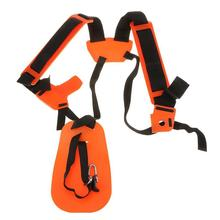 Double shoulder strap with comfortable trimming brush, high-end strap for lawn mower