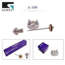 Sawey A-100 распыления автоматический распылитель сопла наборы, насадка для краски на иглу воздушный колпачок части набор, японские наборы