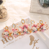 The Bride Married The Bride Tire Crown Crown Crystal Beads Hair Studio Accessories Manufacturers Selling Wedding