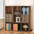 Книжные шкафы Мебель Для Гостиной Мебель Для Дома панели три слоя книжный шкаф с полке шкафа оптовая продажа 90*90*24 см горячая