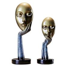 12*38CM Creative mask home crafts decorations ornaments Wedding clothing store head mannequin Process A162