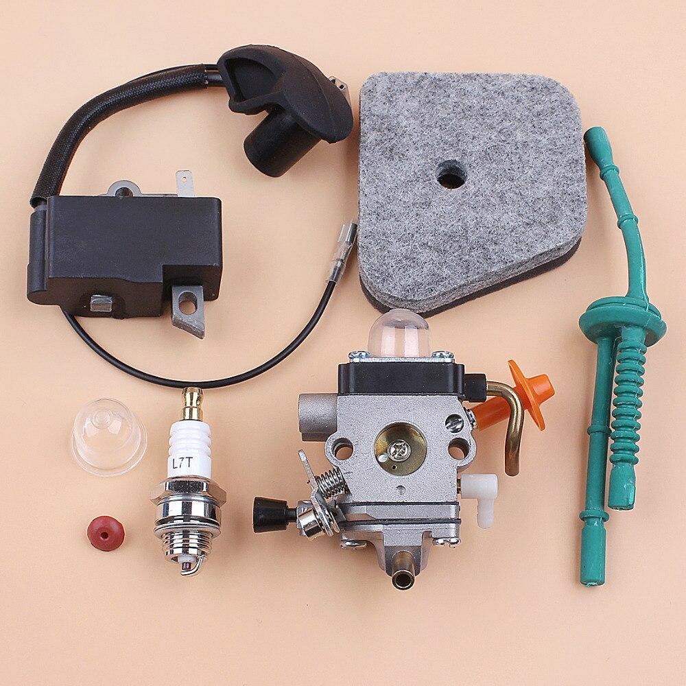 Карбюратор катушка зажигания Топливопровод воздушный фильтр комплект для STIHL FS87 FS90 FS100 HL100 HL95 KM90 HT100 KM100 KM130 триммер Запчасти