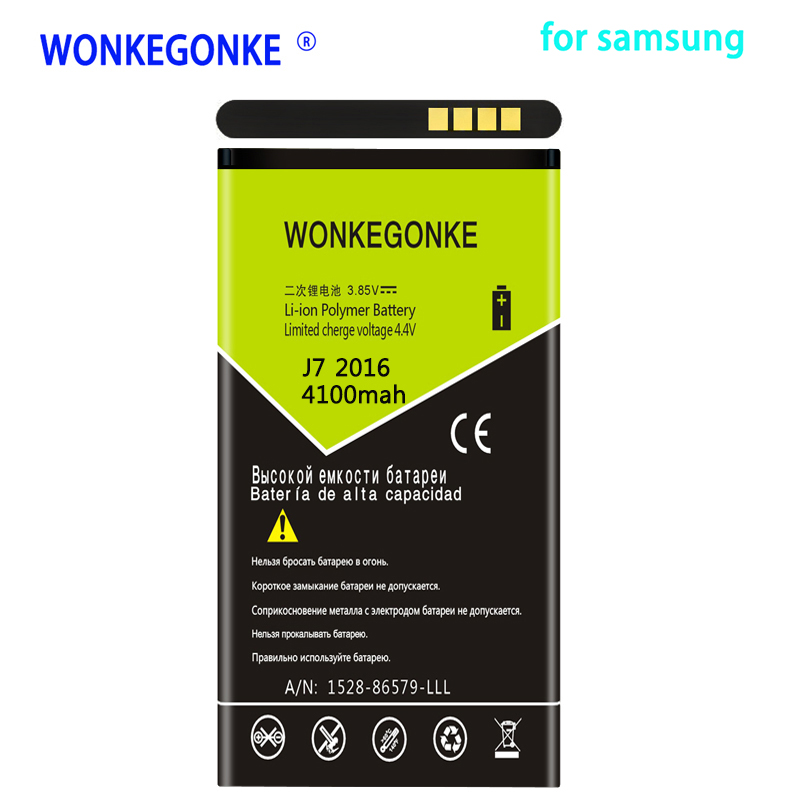 Mobile Phone Parts Objective Wonkegonke Eb-bj710cbc Battery For Samsung Galaxy J7 2016 Edition Sm-j7109 J7108 J7008 J7009 J700f 3500mah Fashionable And Attractive Packages