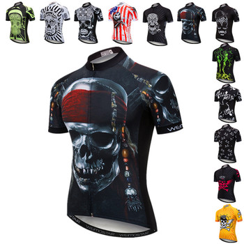 Weimostar Pirate Skull Cycling Jersey Men Summer Pro Team MTB Bike Jersey Top Quick Dry Bicycle Shirt Polyester Cycling Clothing santic triathlon cycling jersey men 2018 pro team quick dry bike jersey cycling clothing swimming running bicycle skinsuit wear