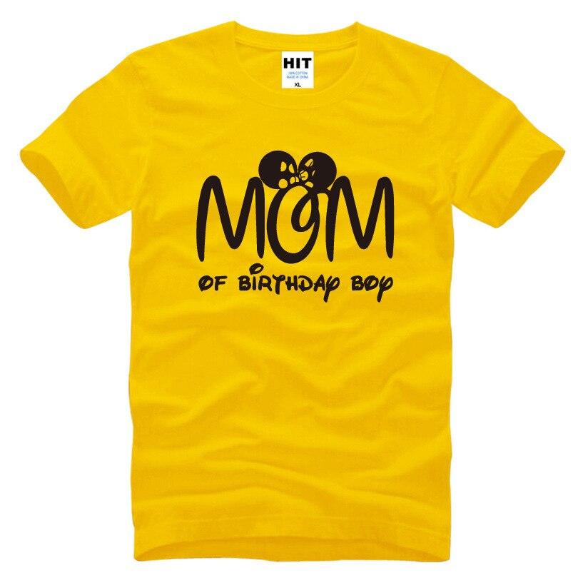 Мама на день рождения Футболка с изображением мультипликационных персонажей для мальчиков футболка Для мужчин S Для мужчин 2018 новый коротк...