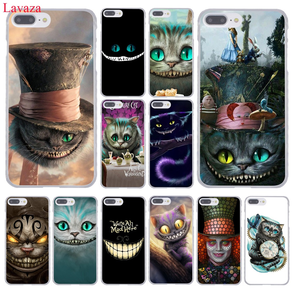Lavaza Alice in Wonderland Cheshire Cat Hard Phone <font><b>Case</b></font> for Apple <font><b>iPhone</b></font> 8 7 6 6S Plus X <font><b>10</b></font> 5 5S SE 5C 4 4S Coque Shell
