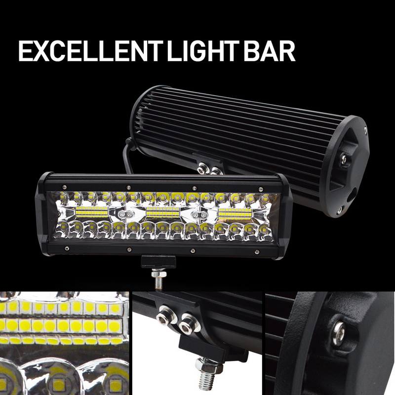 Image 4 - Safego 7 inch 120W offroad led light bar 5 9 12 17 20 inch 84W 180W 240W 360W 384 led Work Light  Car 4WD Truck 4x4 SUV ATV 12V-in Light Bar/Work Light from Automobiles & Motorcycles