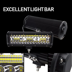 Image 4 - Safego 7 zoll 120W offroad led licht bar 5 9 12 17 20 zoll 84W 240W 360W 384 led Arbeit Licht Auto 4WD Lkw 4x4 SUV ATV 12V