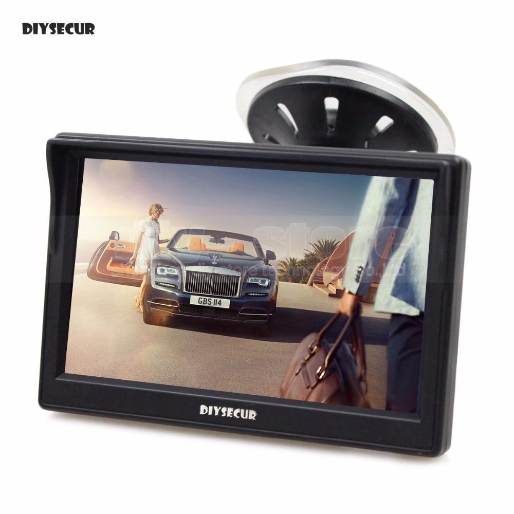 DIYSECUR 5 pouce TFT LCD Affichage De Voiture Arrière View Monitor avec Ventouse et Livraison Support pour MPV SUV Cheval camion