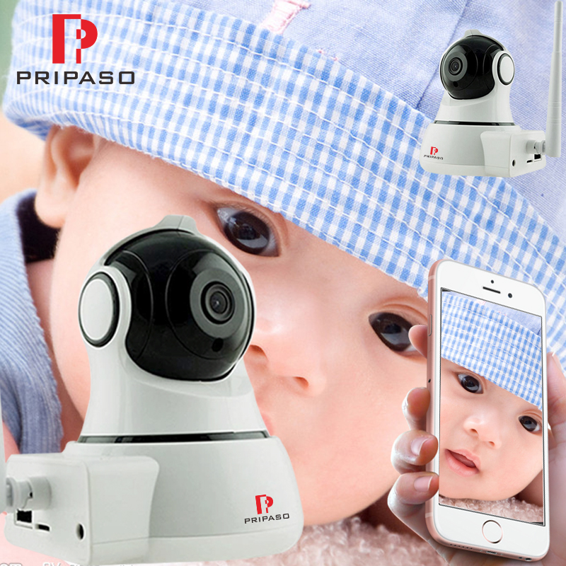 2 Pack Baby Monitor Portable WiFi IP Camera 720P HD Wireless Baby Camera Audio Video Record Surveillance Home Security Camera