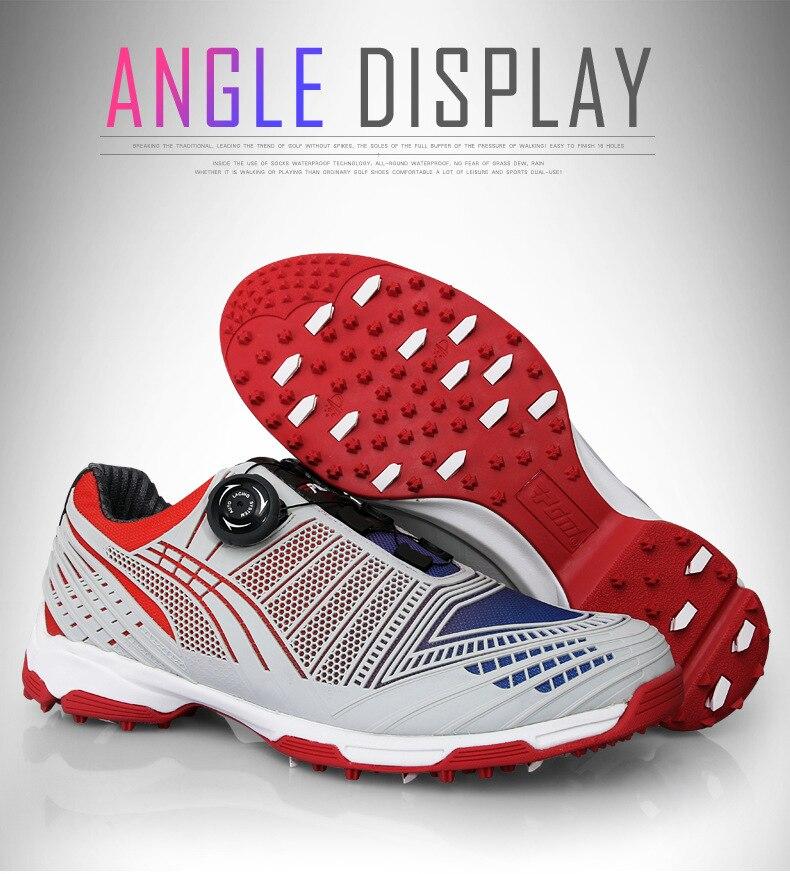 d5bc9d84c5 Cheap Pgm zapatos de Golf para Hombre Zapatos Deportivos impermeables  zapatos deportivos para hombre perillas hebilla