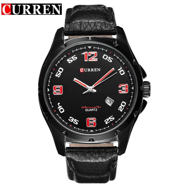 new 2016 curren brand quartz watches deluxe men leather watches women wristwatches christmas gifts men wristwatches hot 8121