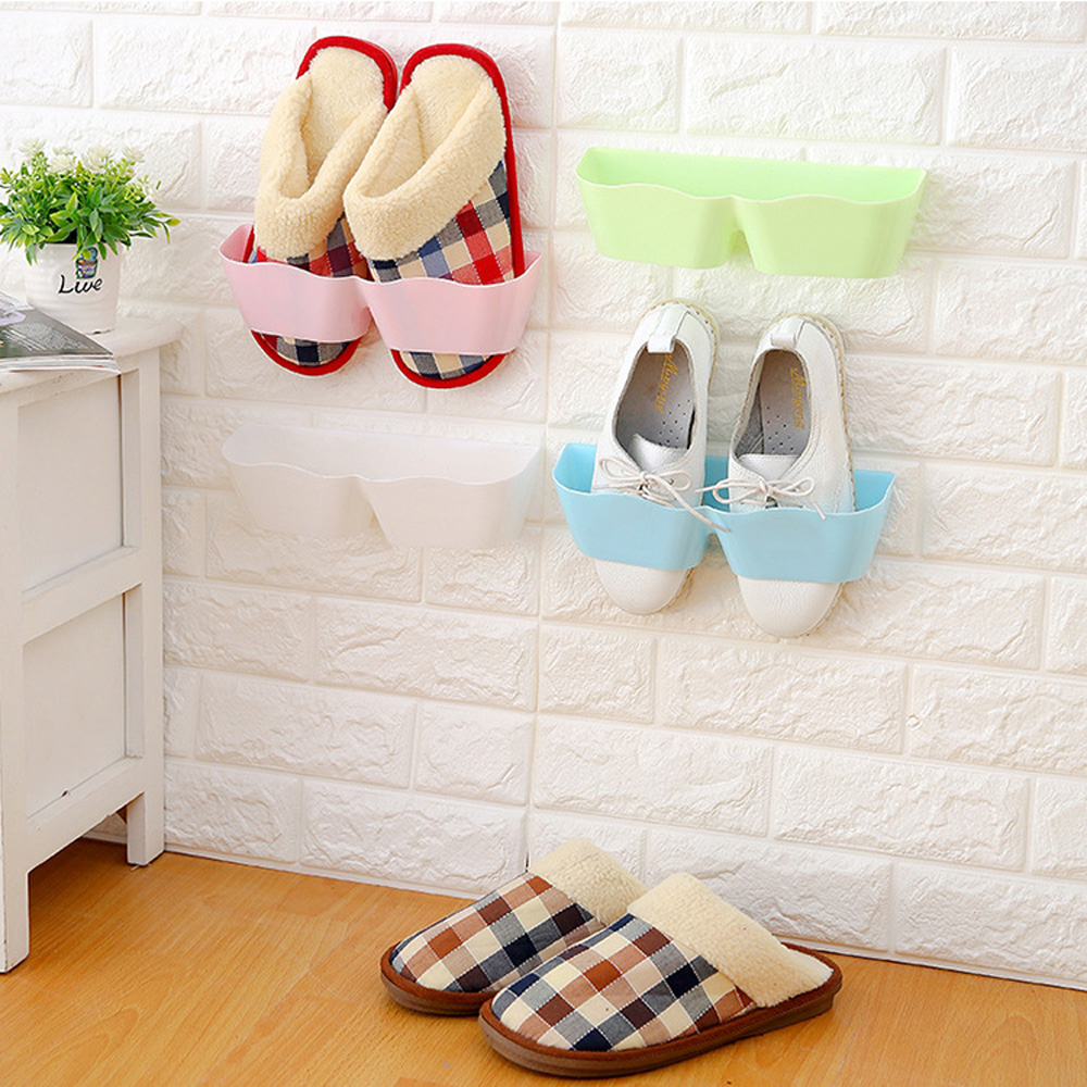 Creative Living Room Bathroom Stereo Wall mounted Shoe RackThree dimensional Space-saving Shoe Rack Simple Small Storage Shelf