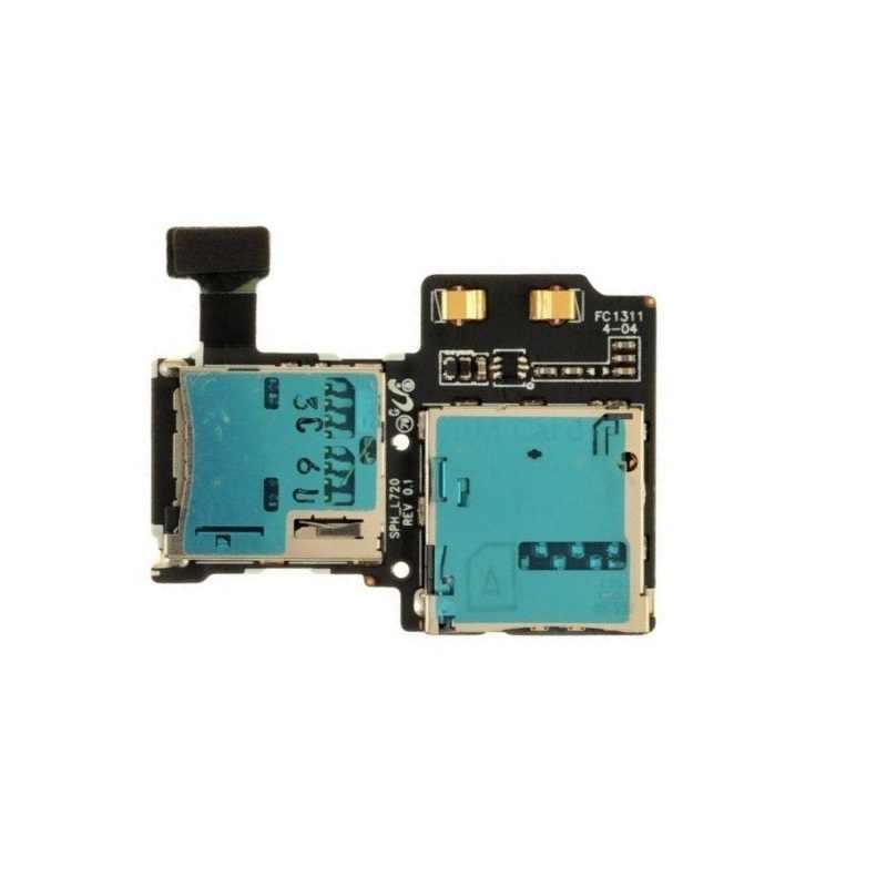 Untuk Samsung Galaxy S4 GT-I9500 I9505 I337 M919 I545 L720 R970 Kartu SIM dan Micro Sd Memori Kartu Holder Konektor kabel