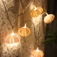 Freies Verschiffen (1 teile/los) Rosa Seeigel LED Lichterkette Natürliche Shell Hochzeit & Weihnachten Wanddekorhandarbeit Handwerk partei Liefert