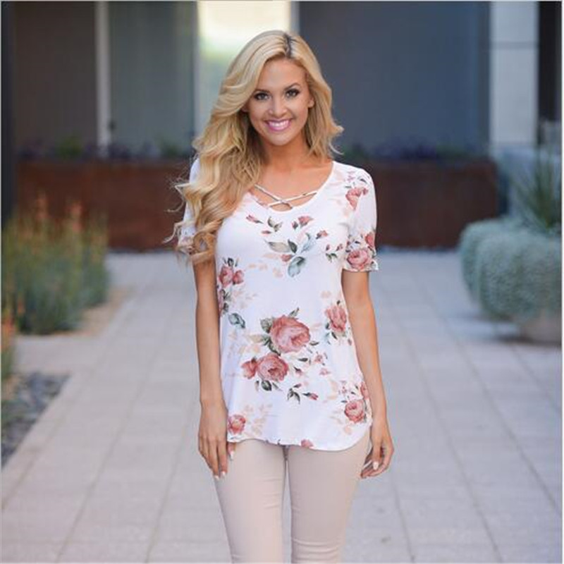 Large-Size-Women-Clothing-2019-Summer-Flower-Print-T-Shirt-Ladies-Fashion-Casual-Short-Sleeve-V (2)
