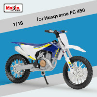 Maisto 1:18 Husqvana FC450 Motocross Model with Base for Honda CRF450R CR250R for Ducati Yamaha YZ 450F KTM Motorcycle Model Toy