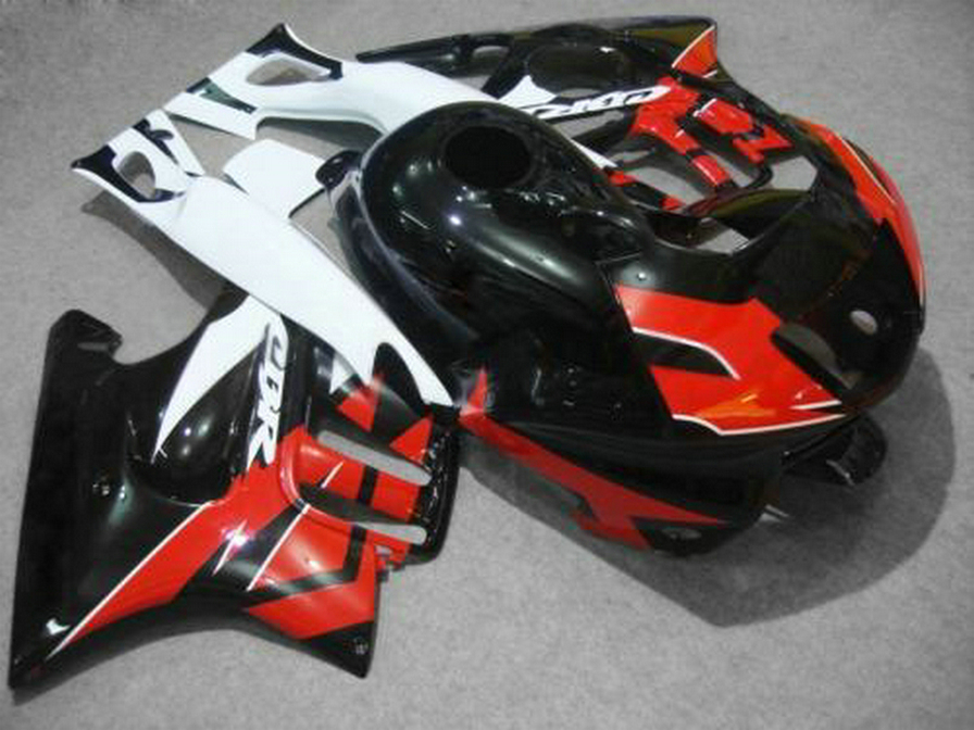 Top-selling plastic Fairing kit for Honda CBR600 F3 97 98 red white black fairings set CBR600 F3 1997 1998 FV28