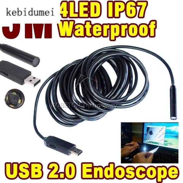 Mini Endoskop 5 Mt Usb 2.0 Waterroof Ipx6710mm Objektiv Endoskop Hd 4led Inspektion Rohr Mini Kamera Hell Und Durchscheinend Im Aussehen Unterhaltungselektronik
