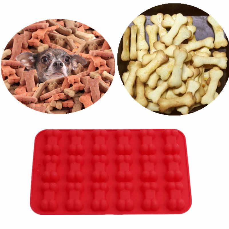 18 Gaten Hond Bone Vormige Siliconen Cakevorm Keuken Bakvorm Chocolade Silicone Mold Sugar Ambachtelijke Fondant Taart Tools