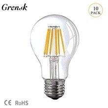 Grensk 12V 24V DC Led Lamp A19 Filament Bulb Low Voltage 6W