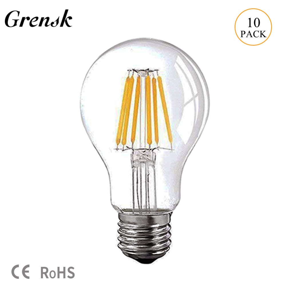 Grensk <font><b>12V</b></font> 24V DC <font><b>Led</b></font> Lamp A19 Filament <font><b>Bulb</b></font> Low Voltage 6W Edison Globe <font><b>Bulbs</b></font> Daylight White 4500K Warm White 2700K E26 <font><b>E27</b></font> <font><b>Led</b></font> image