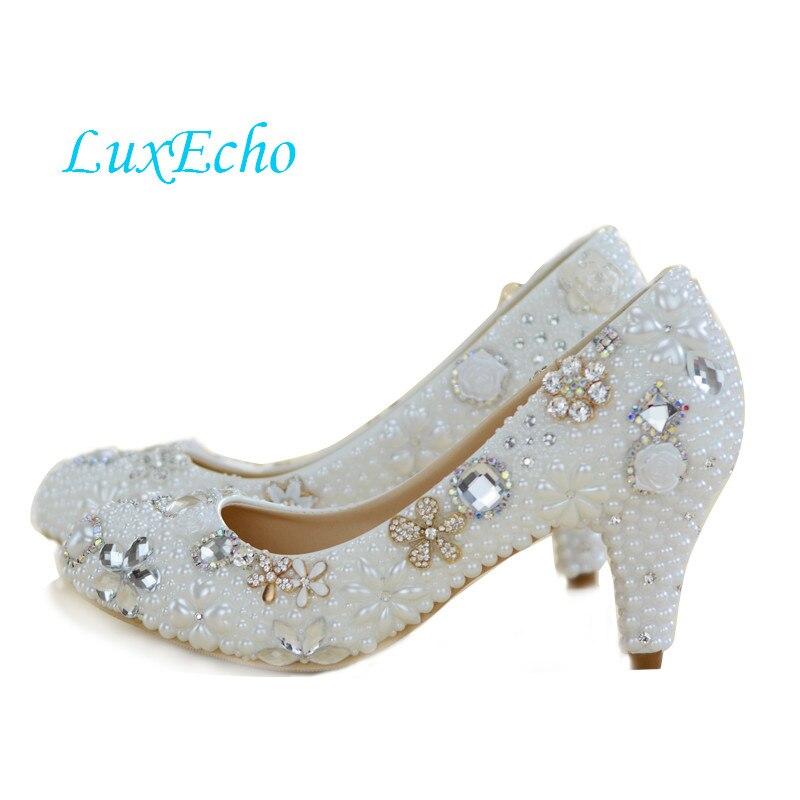 white/ivory Pearl bridal shoes WOMEN rhinestone wedding shoes female flower round toe single pumps high heels shoes картридж механической очистки новая вода к101