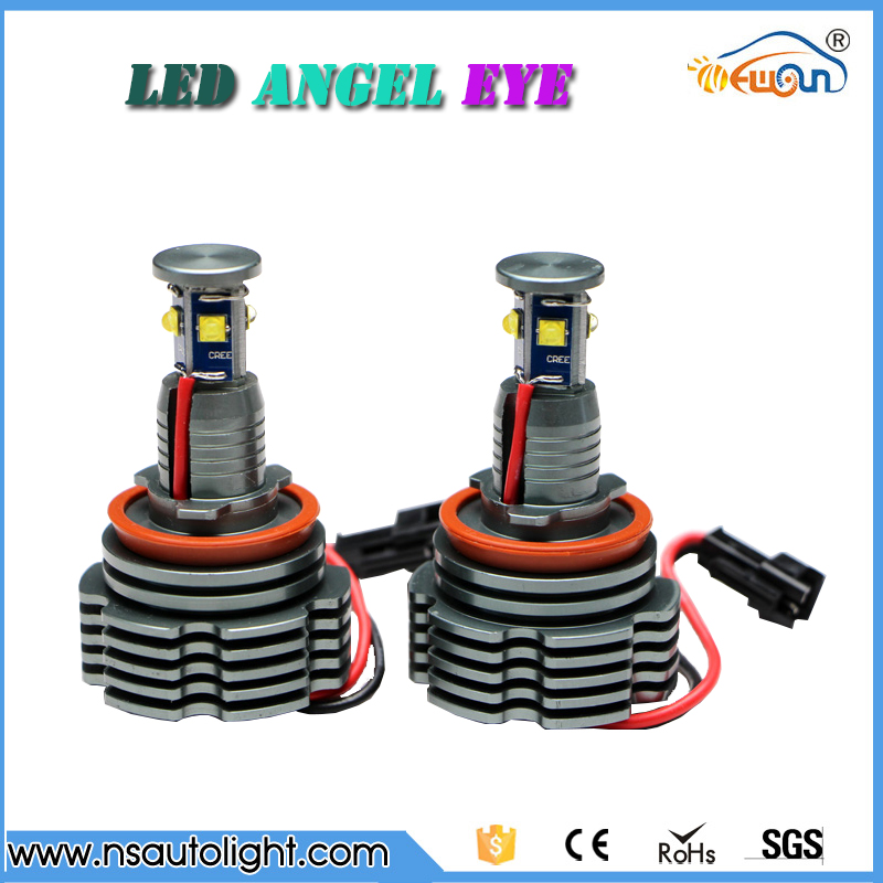 H8 32w led angel eyes E90 E91 E92 E87 E60 led light fit for BMW error free SMD led marker angel eyes headlight h8 2x30w led angel eyes for bmw e92 led marker 2 pcs headlight error free best quality new