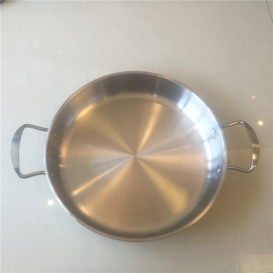 Inside Diameter 26cm,Non-coating Stainless Steel Fry Pan Griddles & Grill Pans.(Dia:26cm)