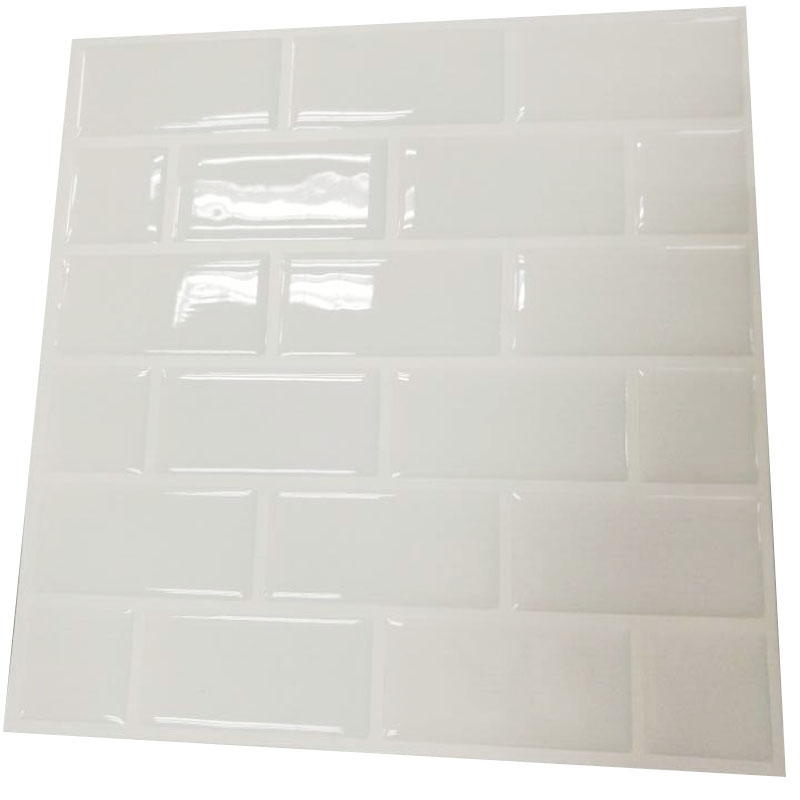 Wall kitchen sticker Tiles - Premium Anti Mold Peel and Stick Wall Tile in Subway White (10 pack)