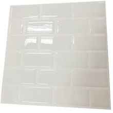 Фотография Wall kitchen sticker Tiles - Premium Anti Mold Peel and Stick Wall Tile in Subway White (10 pack)