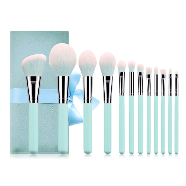brixini.com - Cinderella™ Makeup Brush with Bag Sets 12PCS