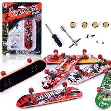 1 Set Professional Fingerboard Toys Mini Finger Skatepark  Non-slip Frosted Mat Finger Skateboard Toy for Children Gift