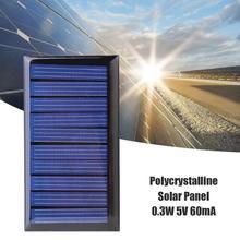 0.3W 5V 60mA DIY Mini Solar Power Epoxy Resin Plate Solar Cell Battery Solar Panel Charger Led Solar Light Lamp for 3.6V Battery