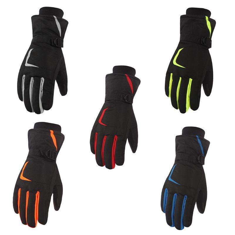 1 Paar Unisex Wasserdichte Anti Slip Touch Screen Warme Handschuhe Einstellbare Manschette Winter Camping Wandern Skifahren Outdoor Sport Zubehör