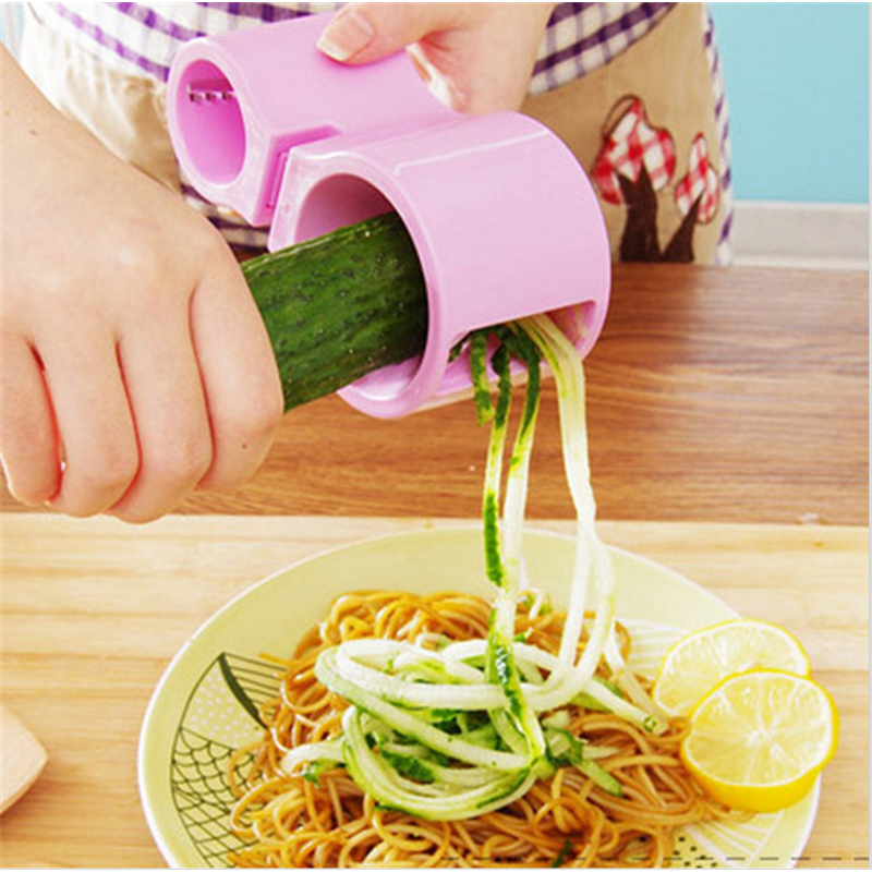 Multifonction Légumes Spiral Cutter Double-utilisation Affûteur Carotte Double Râpe Aiguiseur Cuisine Outil Aléatoire Couleur