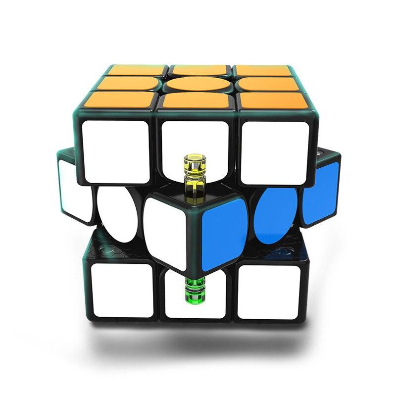 Original nouveau GAN356 X magnétique magique vitesse Cube professionnel 3x3 IPG V5 Magico Cubo échange aimants Puzzle noir sans bâton - 3