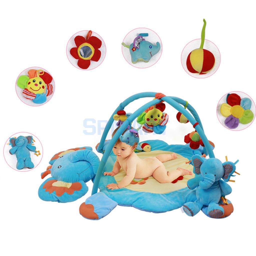 Elephant Baby Musical Play Mat Activity Gym Playmat Playcentre Soft Mat Toys baby gym playmat toddler musical toys baby activity mat toys for 0 12 months baby games brinquedos para bebe oyuncak bebek