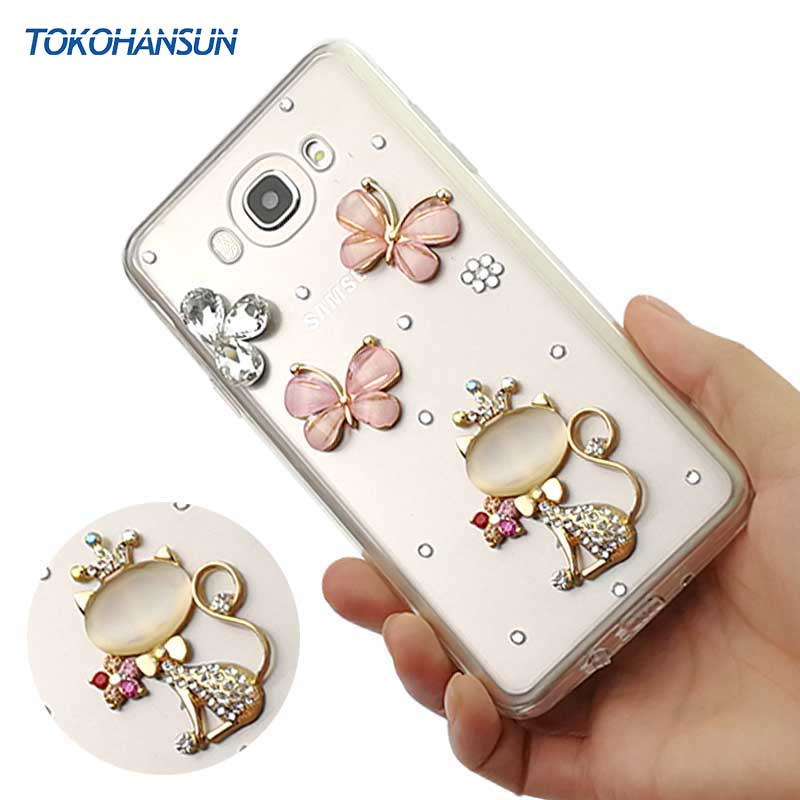 Tokohansun Мода мобильного Телефонные Чехлы для Samsung Galaxy <font><b>J5</b></font> <font><b>2016</b></font> J7 j710 J3 J2 Prime покрытия Diamond Crystal Силиконовые Чехол случае