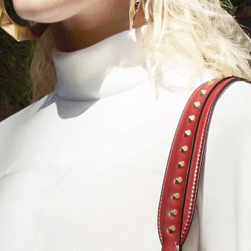 Blanc Robe Européen Longues Col White Manches Américain À Mode Personnalisé Et wq65wdC