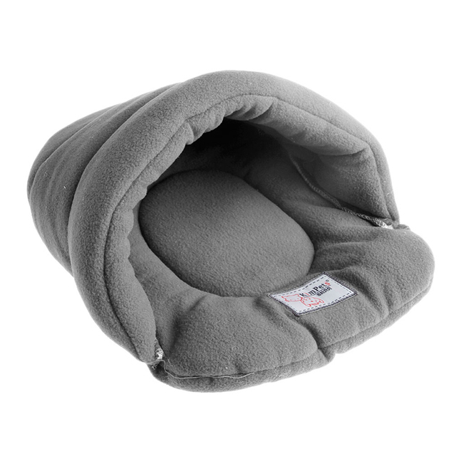 Pet Cat House Soft Warm Winter Dog Cat Bed Flip Flop Cave Dog House Cute Kennel Nest Dog Fleece Cat Bed