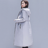 2019 Double Two Sides Winter Women Jacket Hooded Padded Vintage Female Outwear Coat Long Parka Abrigos Mujer Invierno