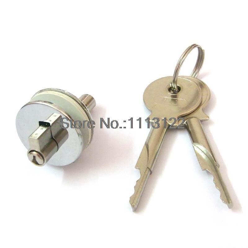 232 Glass Showcase Lock Glass Sliding Cabinet Lock Brass Cylinder