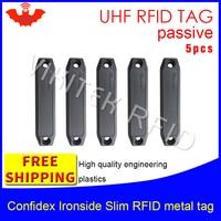 UHF RFID metalen tag confidex ironside slanke 915 m 868 mhz Impinj Monza4QT EPC 5 stuks gratis verzending duurzaam ABS smart passieve RFID tags