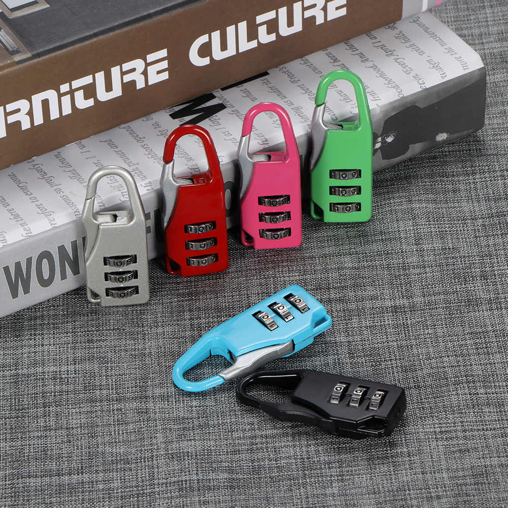 Colorful Password Lock Zinc Alloy Security Lock Suitcase Luggage Coded Lock Cupboard Cabinet Locker Padlock