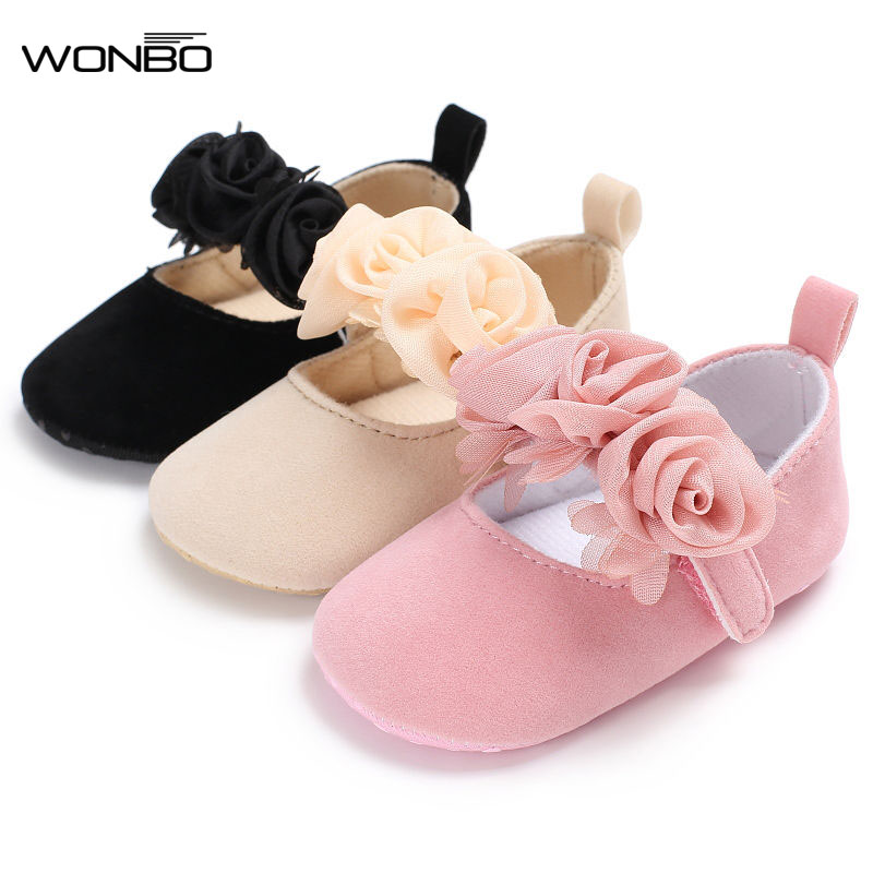 New Fall Flower Style Cotton Farbic Baby Moccasin Shoes Baby Girl Princess Dress Shoes Mary Jane Cute Baby Shoes 0-18M