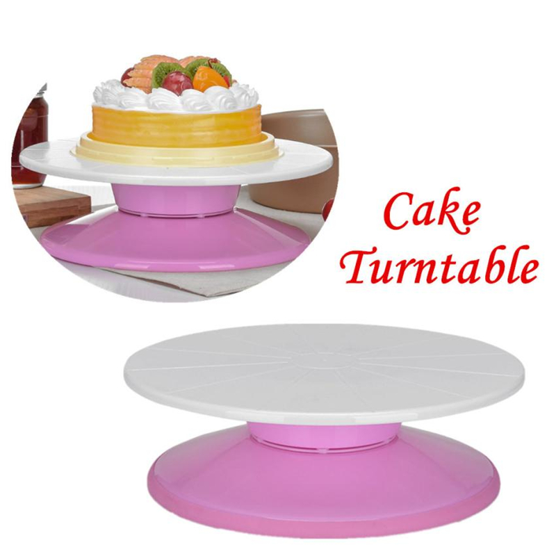 Home Cake Decorating: 2018 New Creative Cake Turntable DIY Rotating Revolving